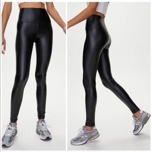 Aritzia Daria faux leather black legging p…